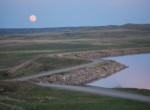 Moonrise over Pishkun